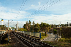 Ponte Railway através da estrada foto de stock royalty free