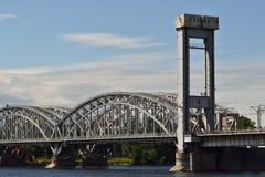 Ponte railway da exploração agrícola da rede de pesca Foto de Stock Royalty Free