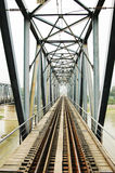 Ponte railway de aço Imagens de Stock Royalty Free
