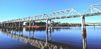 Ponte railway de Bundaberg Imagens de Stock Royalty Free