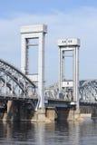 Ponte Railway de Finlandia, St Petersburg. fotografia de stock royalty free