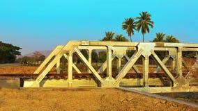 Ponte railway do metal Imagens de Stock Royalty Free