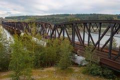 Ponte Railway sobre Fraser River Foto de Stock