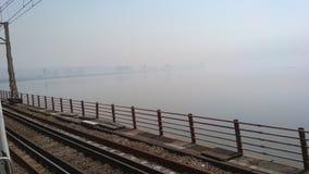 Ponte railway verde fotos de stock royalty free