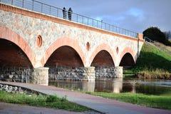 Ponte railway verde fotografia de stock