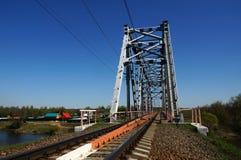 Ponte railway verde Foto de Stock