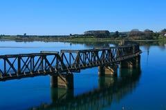 Ponte railway verde Imagem de Stock