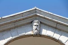 Ponte Rialto detail, Venice, Veneto, Venetia, Italy Stock Image
