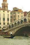 Ponte Rialto in Venice Royalty Free Stock Photography