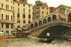 Ponte Rialto in Venice, Italy Royalty Free Stock Photography