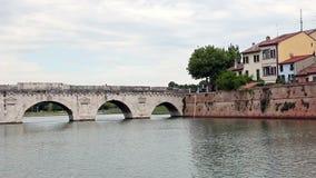 Ponte Rimini Italia di Tiberius stock footage