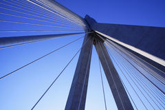 Ponte Rio - Antirio, Peloponnese, Greece Imagens de Stock