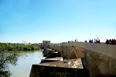 A ponte romana de Córdova imagens de stock royalty free