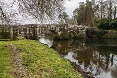 Ponte romana em Brandomil, Camino de Santiago, um Galiza Foto de Stock Royalty Free