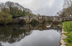 Ponte romana em Brandomil, Camino de Santiago, um Galiza Imagem de Stock Royalty Free