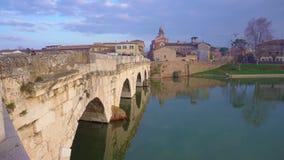 Ponte romano di Rimini video d archivio