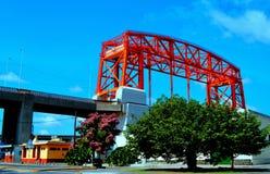 Ponte rosso a Buenos Aires Fotografie Stock Libere da Diritti