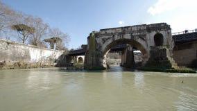 Ponte Rotto在罗马,意大利 影视素材