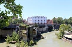Ponte Rotto (ponte quebrada) Imagem de Stock Royalty Free