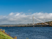 Ponte in Rovaniemi Immagini Stock