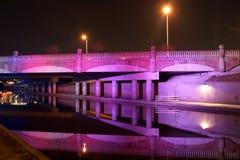 Ponte roxa Imagem de Stock