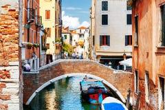 Ponte Ruga Vecchia and the Rio de San Zan Degola Canal, Venice Stock Photography