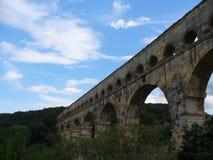 Ponte rumeno in Francia a Le Pont du il Gard Fotografia Stock