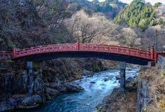 Ponte sagrado Shinkyo em Nikko, Japão Imagem de Stock Royalty Free