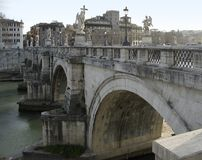 Ponte saint angelo in Rome Royalty Free Stock Photos