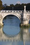 Ponte San Angelo, Roma. Ponte San Angelo over the Tiber, Roma, Italy Royalty Free Stock Photos