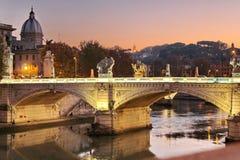 Ponte san Angelo Roma Fotografia de Stock Royalty Free