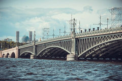 Ponte San Pietroburgo della trinità Fotografie Stock