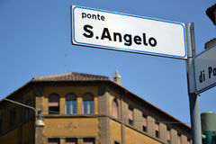 Ponte Sant安吉洛 免版税库存照片