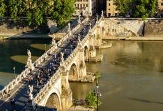Ponte Sant ` Angelo (γέφυρα των αγγέλων) στη Ρώμη Στοκ Εικόνες