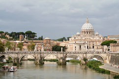 Ponte sant'Angelo-ι-Ρώμη Στοκ Εικόνες
