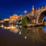 Ponte Sant ` Angelo και Castel Sant ` Angelo το πρωί, Ρώμη, Ι Στοκ Φωτογραφία