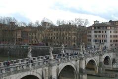 Ponte Sant ` Angelo, Ponte Sant ` Angelo, πόλη, plaza, κτήριο, υδραγωγείο Στοκ Εικόνες