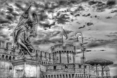 Ponte Sant& x27 Angelo, Ρώμη, Ιταλία Στοκ Εικόνες