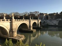 Ponte Sant ` Angelo - Ρώμη Στοκ φωτογραφίες με δικαίωμα ελεύθερης χρήσης