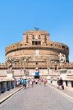 Ponte Sant Angelo στη Ρώμη με την επιβολή Castel Sant Angelo ο Στοκ Φωτογραφίες