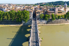 Ponte Sant ` Angelo στη Ρώμη Στοκ Φωτογραφία