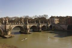 Ponte Sant'Angelo στη Ρώμη Στοκ Εικόνα