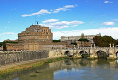 Ponte Sant Angelo Stock Photos