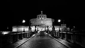 Ponte Sant'Angelo Fotos de Stock Royalty Free