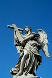 Ponte Sant'Angelo. One of the Angels lining the bridge near Castel Sant'Angelo royalty free stock photography