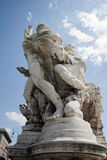 Ponte Sant'Angelo Bridge Statue Stock Photos