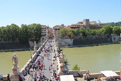 Ponte Sant'Angelo Royalty Free Stock Image
