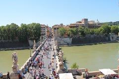 Ponte Sant'Angelo Royalty Free Stock Image