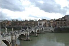 Ponte Sant`Angelo, Ponte Sant`Angelo, bridge, waterway, arch bridge, river. Ponte Sant`Angelo, Ponte Sant`Angelo is bridge, river and aqueduct. That marvel has Royalty Free Stock Images