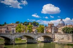 Ponte Sant Angelo, Roma, Italia Fotografia Stock Libera da Diritti